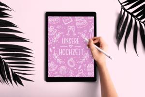 digitales Gästebuch Hochzeit auf iPad