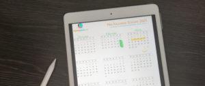 Kalender Sticker für digitalen Planer