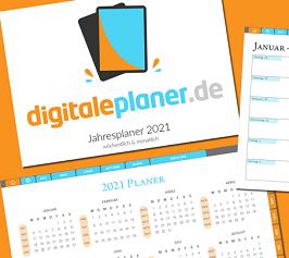 Vorlage Digitaler Planer 2021 kostenlos