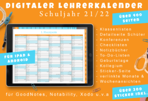 Produktbild digitaler Lehrerkalender 2021/22